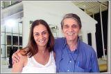 A secretária municipal de Cultura de Paulinia, Monica Trigo e o Presidente do CBC - Congresso Brasileiro de Cinema, João Baptista Pimentel Neto.