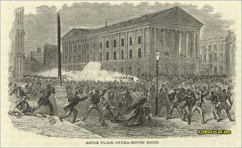 A Revolta do Astor Place,  tem, como nenhum outro acontecimento, as características que devem estar associadas à criação de um símbolo importante e permanente para unir e identificar uma comunidade – o público -, sua história e sua luta.