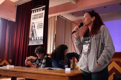Carla Francine, Cyntia Falcão e Pimentel. I Festival de Cinema de Triunfo.